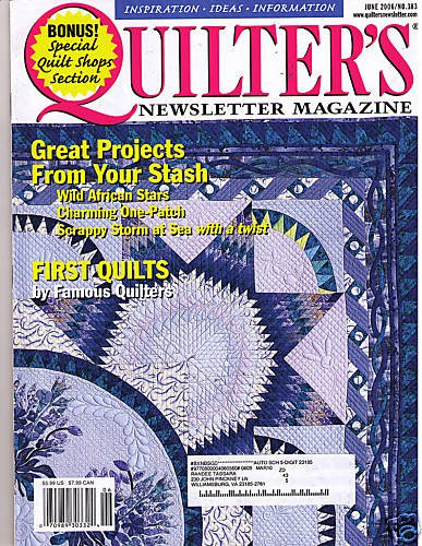 Quilter's Newsletter Magazine June 2006 Scrappy Storm