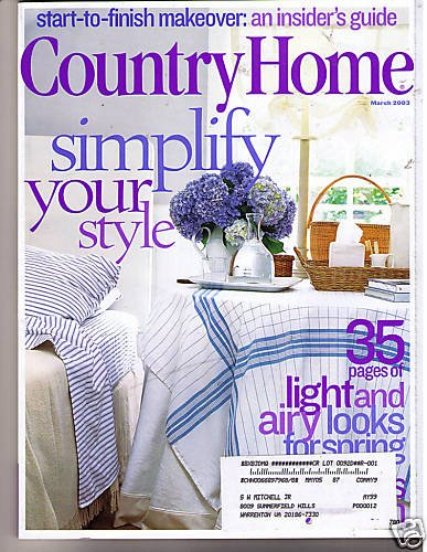 Country Home March 2003 Decorating Makeover Guide