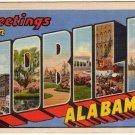 MOBILE, Alabama large letter linen postcard Teich