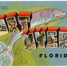 FORT MYERS, Florida large letter linen postcard Tichnor