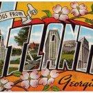 ATLANTA, Georgia large letter linen postcard Kropp