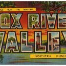 FOX RIVER VALLEY, Illinois large letter linen postcard Teich
