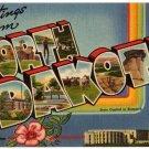 NORTH DAKOTA large letter linen postcard Tichnor