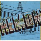 FREMONT, Ohio large letter linen postcard Kropp