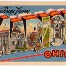 MARION, Ohio large letter linen postcard Tichnor