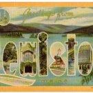 LEWISTON, Maine large letter linen postcard Dexter