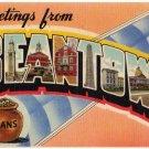 BEANTOWN, Massachusetts large letter linen postcard Colourpicture