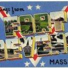 FORT DEVENS, Massachusetts large letter linen postcard Colourpicture