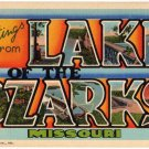 LAKE OF THE OZARKS, Missouri large letter linen postcard Teich