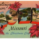 NOEL, Missouri large letter linen postcard Tichnor