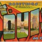 ST. LOUIS, Missouri large letter linen postcard Metropolitan