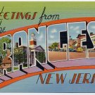 ORANGES, New Jersey large letter linen postcard Tichnor