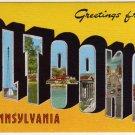ALTOONA, Pennsylvania large letter linen postcard Kropp