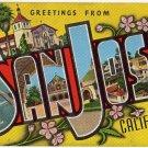 SAN JOSE, California large letter linen postcard Kropp