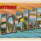 VIRGINIA large letter linen postcard Metropolitan