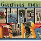 NEWPORT NEWS, Virginia large letter linen postcard Tichnor