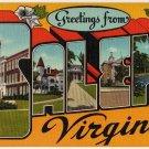 SALEM, Virginia large letter linen postcard Eastern Photo