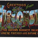 WISCONSIN large letter linen postcard Kropp