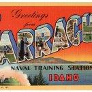 FARRAGUT NAVAL TRAINING STATION, Idaho large letter linen postcard Teich