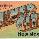SILVER CITY, New Mexico large letter linen postcard Colourpicture