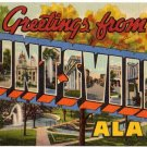 HUNTSVILLE, Alabama large letter linen postcard Teich