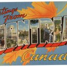 MONTREAL, Canada large letter linen postcard Tichnor