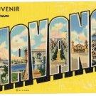 HAVANA, Cuba large letter linen postcard Teich