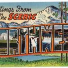 SCENIC NORTHWEST large letter linen postcard Colourpicture