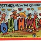 SOUTHWEST large letter linen postcard Teich
