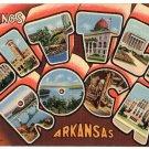 LITTLE ROCK, Arkansas large letter linen postcard Teich