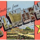 FT. WORTH, Texas large letter linen postcard Kropp