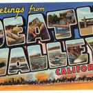 DEATH VALLEY, California large letter linen postcard Teich