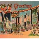LOS ANGELES, California large letter linen postcard Metropolitan