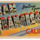 SAN FRANCISCO, California large letter linen postcard Tichnor
