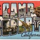 CAMP ROBERTS, California large letter linen postcard Kropp
