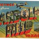 RANDOLPH FIELD, Texas large letter linen postcard Metropolitan