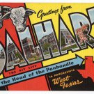 DALHART, Texas large letter linen postcard Kropp