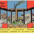 ABILENE, Texas large letter linen postcard Kropp