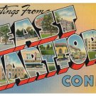 EAST HARTFORD, Connecticut large letter linen postcard Tichnor