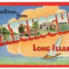PATCHOGUE, New York large letter linen postcard Colourpicture