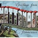 CHATTANOOGA, Tennessee large letter linen postcard Kropp