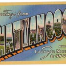 CHATTANOOGA, Tennessee large letter linen postcard Teich