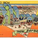 WILDWOOD, New Jersey large letter linen postcard Teich