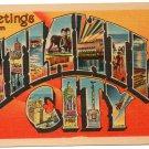 ATLANTIC CITY, New Jersey large letter linen postcard Metropolitan