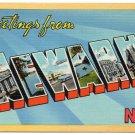 NEWARK, New Jersey large letter linen postcard Colourpicture