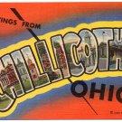 CHILLICOTHE, Ohio large letter linen postcard Teich