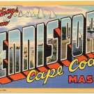 DENNISPORT, Cape Cod, Massachusetts large letter linen postcard Teich