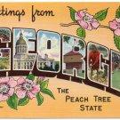 GEORGIA large letter linen postcard Colourpicture