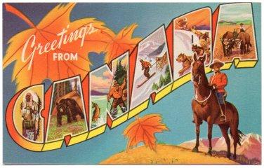 CANADA large letter postcard
