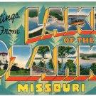 LAKE OF THE OZARKS, Missouri large letter linen postcard Colourpicture